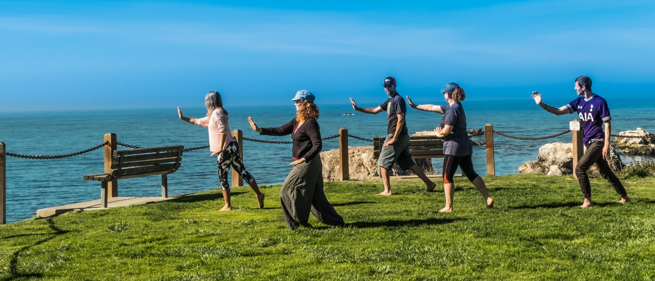 Morning Tai Chi by the Beach