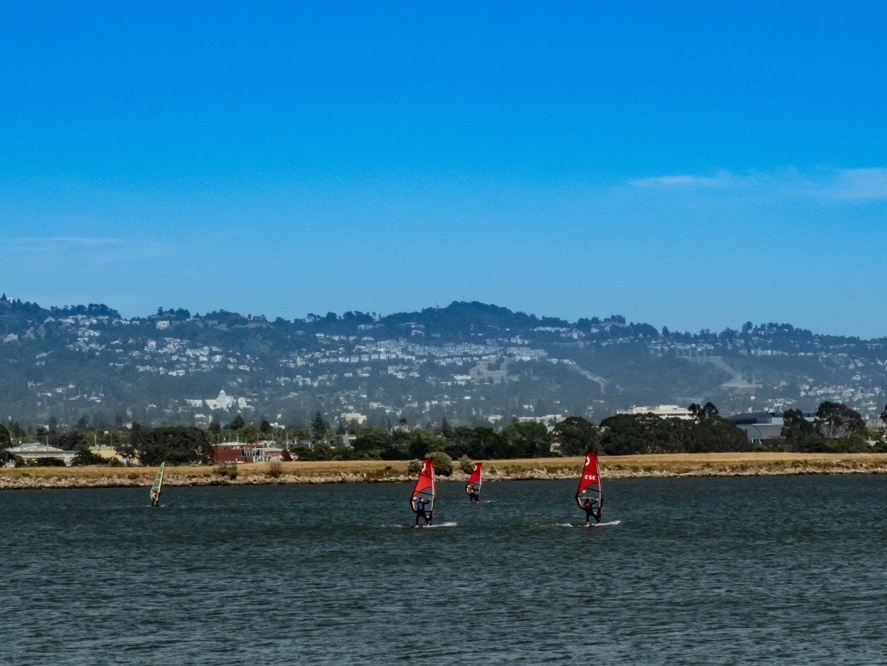 Wind surfers - Berkeley Marina 5-1829
