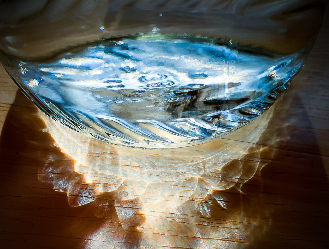 Water, light and a glass