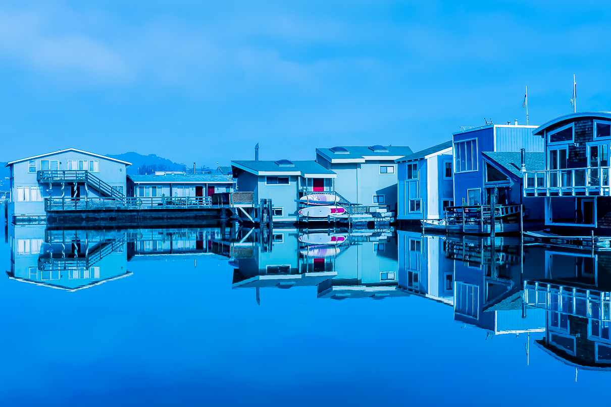 Sausalito floating houses 5471 HDR-