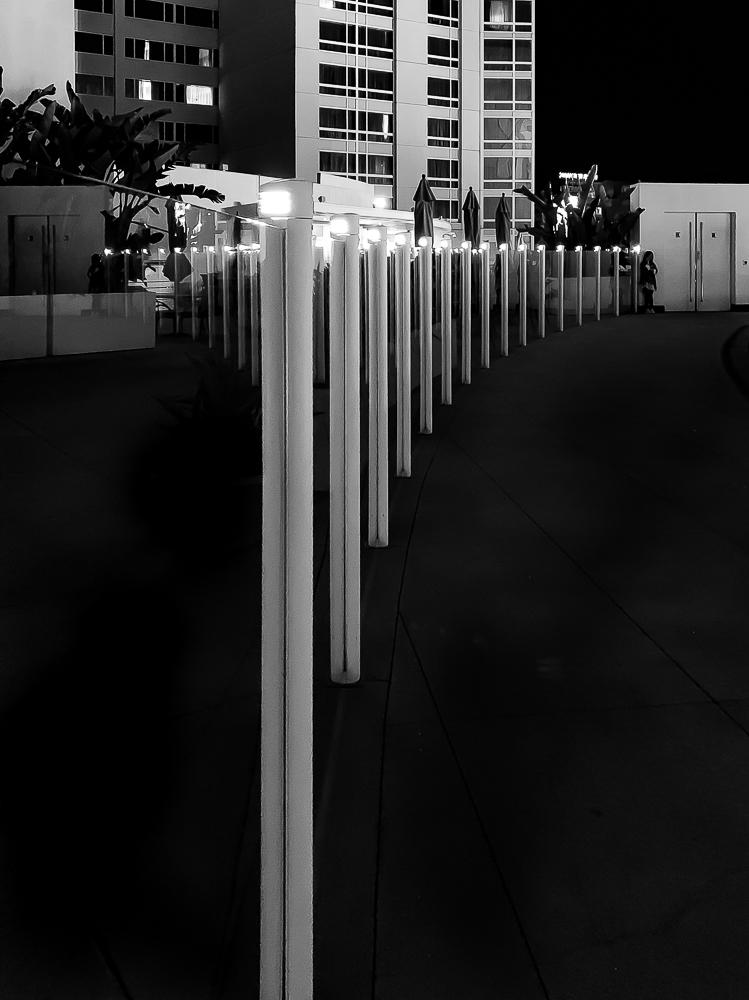 Monochrome Mondays: Waiting beyond thelights