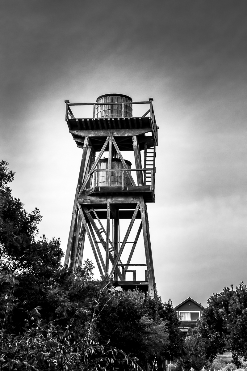 Monochrome Mondays: Mendocino water towers
