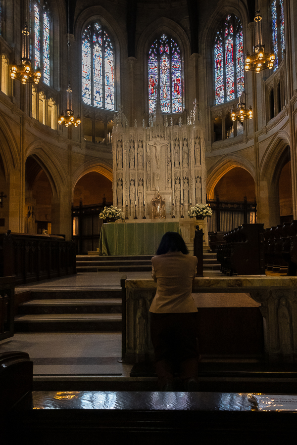 Silent Sunday-woman St. Dominic's church-2