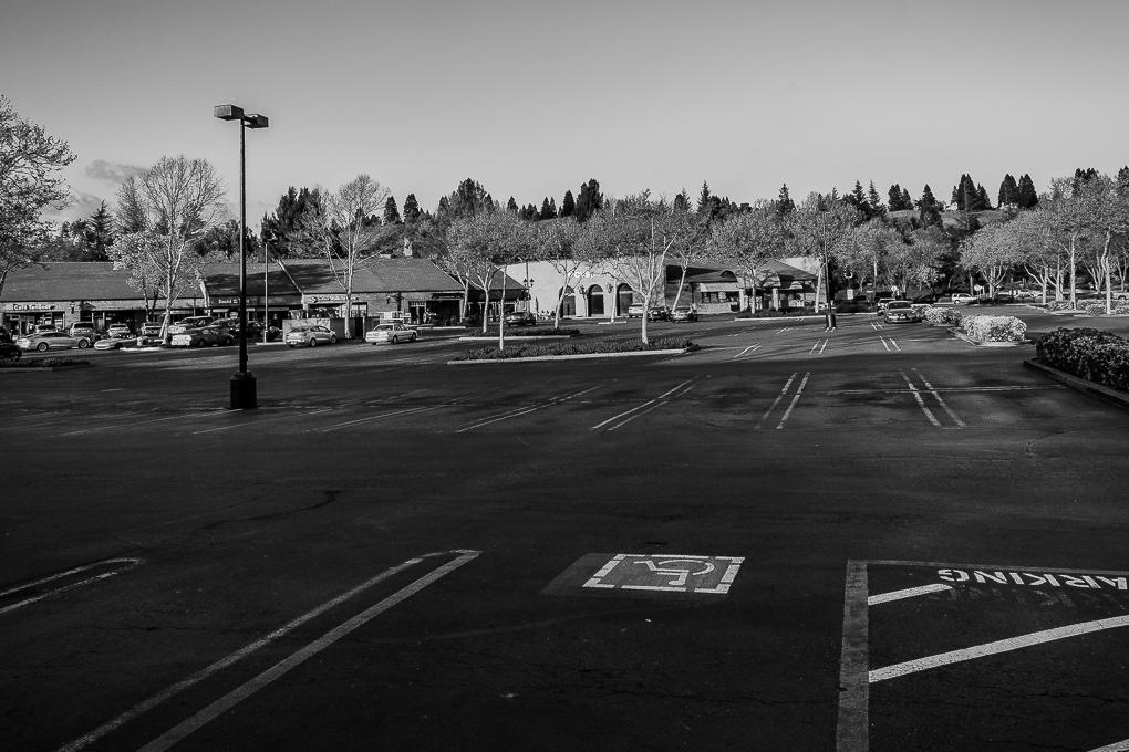 Bare asphalt