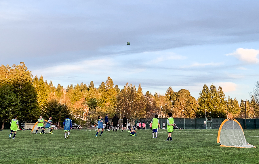 Soccer practice then… andnow