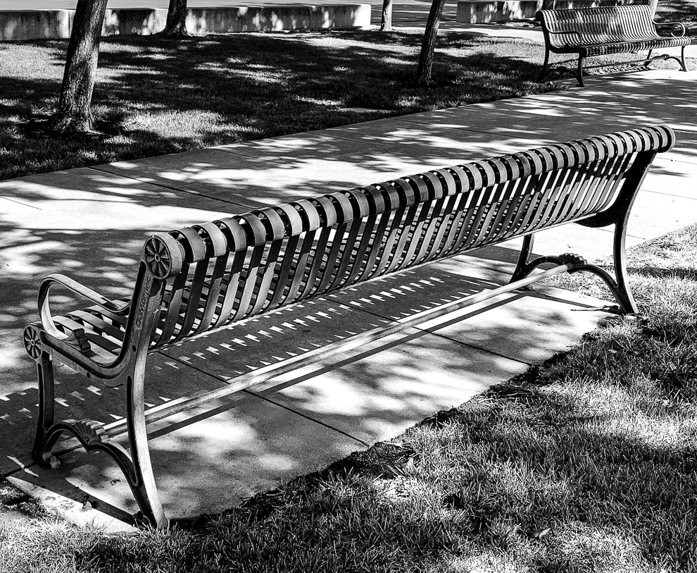 Monochrome Mondays: Empty benches