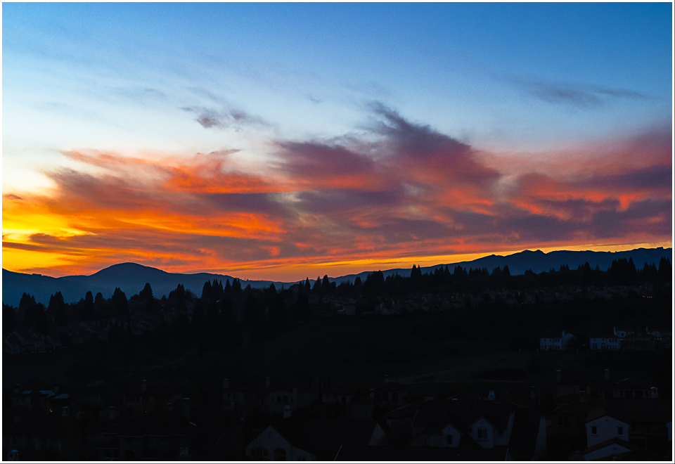 Winter Solstice sunset over San Ramon*